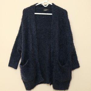 ZARA Knit Fuzzy Oversized Cardigan Sweater Small